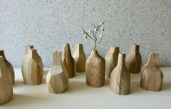 木彫教室《手の赴くままに、木の一輪挿し》
