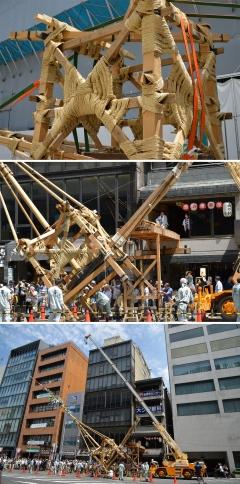 祇園祭2018前祭 鉾建て 山建て