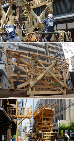 祇園祭2018 後祭鉾建て