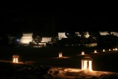 美山かやぶきの里「雪灯篭」